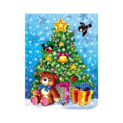 Мозаика из помпонов Новогодняя елка
