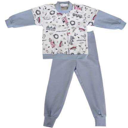 Пижама детская Папитто Маяки р.80 арт.15872-03