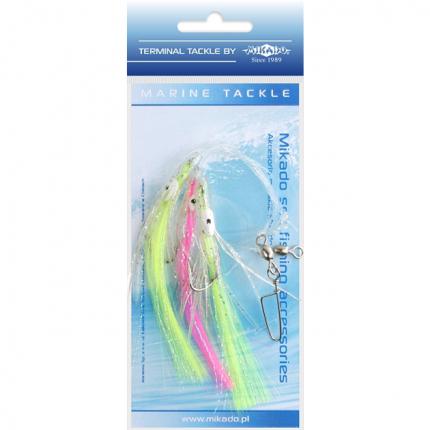 Поводоки для морской ловли Mikado Octopus Rig Hair 7,5 см, крючки №2/0