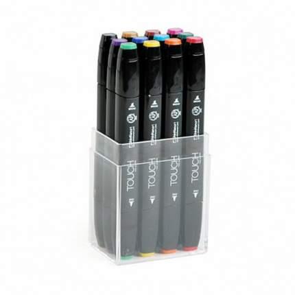 Набор двухсторонних спиртовых маркеров Touch Twin 12шт Основные цвета