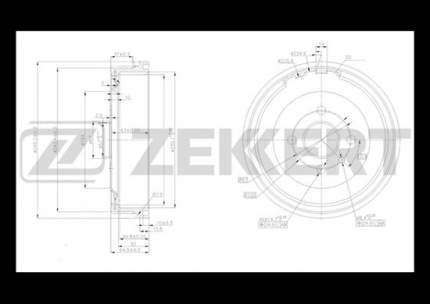Тормозной барабан ZEKKERT BS-5169
