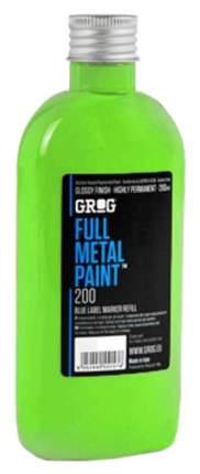 Краска для маркеров Grog Full Metal Paint Неон-зеленый 200 мл