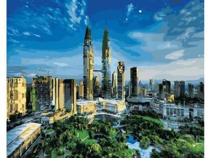 """Картина по номерам GX5690 """"Башни близнецы Куала Лумпур"""""""