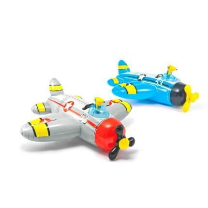 Надувная игрушка самолет с водяным пистолетом intex, 130 х 132 см, от 3 лет