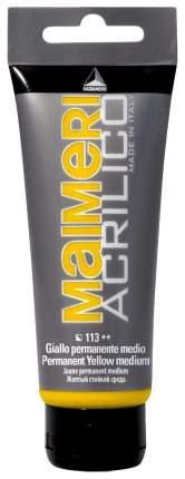 Акриловая краска Maimeri Acrilico M0924113 желтый средний 200 мл