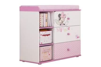 Пеленальный комод Polini Kids Disney Baby Минни Маус-Фея 5090 с 3 ящиками, Белый/Розовый