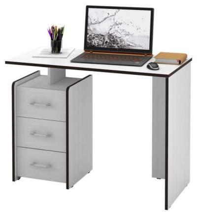 Стол компьютерный прямой МФ Мастер Слим-1 50x100x75, белый