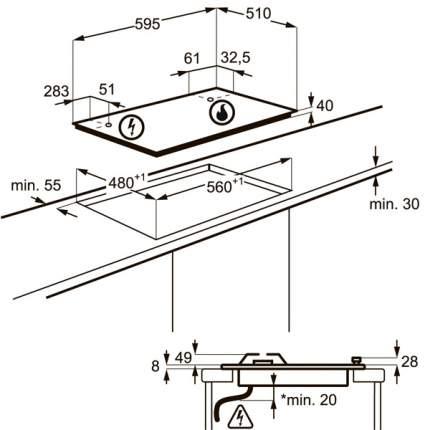 Встраиваемая варочная панель газовая Electrolux GPE263FX Silver