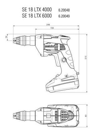 Аккумуляторная дрель-шуруповерт Metabo SE18LTX6000 620049510