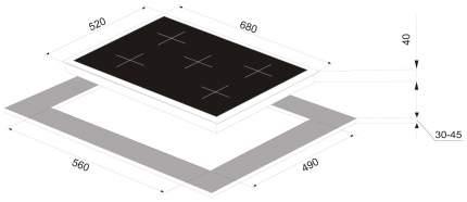 Встраиваемая варочная панель газовая Zigmund & Shtain MN 115.71 White