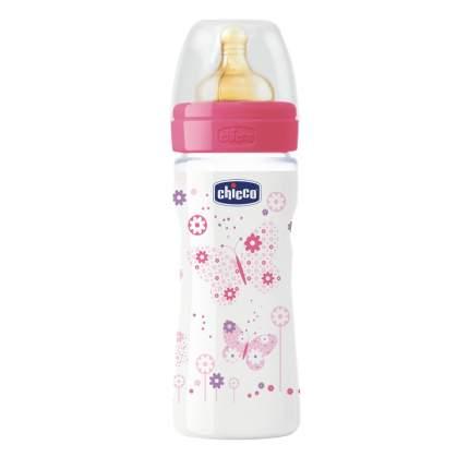 Детская бутылочка Chicco Well-Being Girl 250 мл розовый