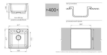 Мойка для кухни из мрамора GranFest Practic GF-P420 серый