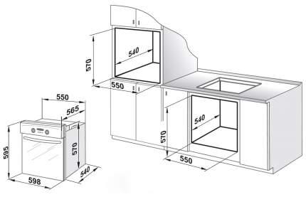 Встраиваемый электрический духовой шкаф GEFEST ДА 602-01 К Brown