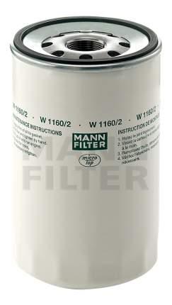 Фильтр масляный двигателя MANN-FILTER W1160/2