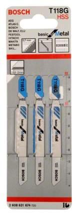 Набор пилок для лобзика Bosch T 118 G, HSS 2608631674