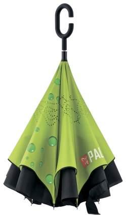 Зонт-трость механический Palisad 69700 зеленый/черный