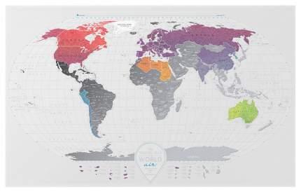 Географическая карта 1DEA.me Travel Map Air World