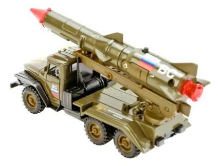 Машина военная Технопарк УРАЛ ВС с ракетой