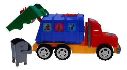 Машинка пластиковая Каролина Мусоровоз профи c контейнером