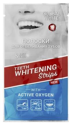 Пластина для отбеливания зубов Global White Teeth Whitening Strips Express