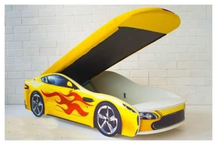 Кровать-машина с подъемным механизмом Бельмарко Бондмобиль 556 Желтый