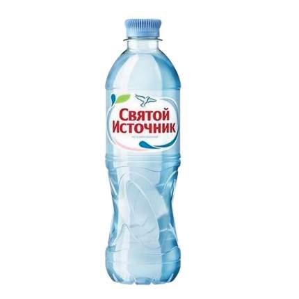 Вода питьевая Святой Источник негазированная 0.5 л 12 штук в упаковке