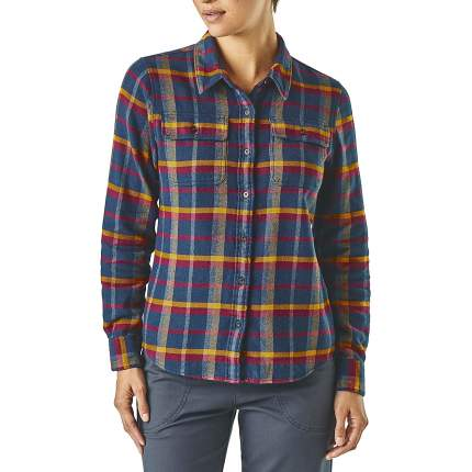 Рубашка Patagonia L/S Fjord Flannel, rebel arrow red, S INT