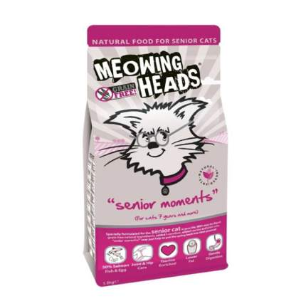 Сухой корм для кошек Barking Heads Meowing Heads Senior Moments, лосось и яйцо, 1,5кг