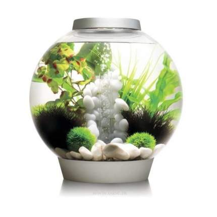 Декорация для аквариума biOrb Pebble, средний орнамент из гальки, белый, 21см