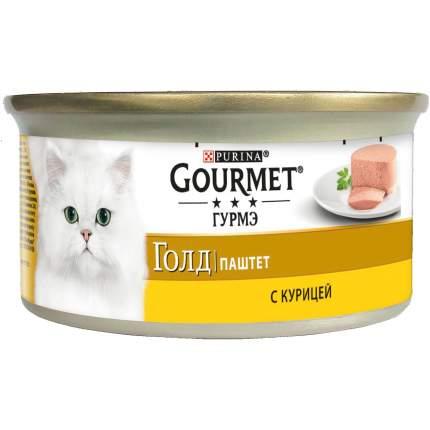 Консервы для кошек Gourmet Gold, паштет с курицей, 12шт по 85г