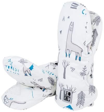 Варежки для коляски Leokid белые