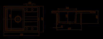 Мойка для кухни комбинированная Florentina Комби 650, черный