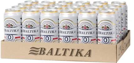 Пиво безалкогольное Балтика №0 0.45 л упаковка 24 шт в банке