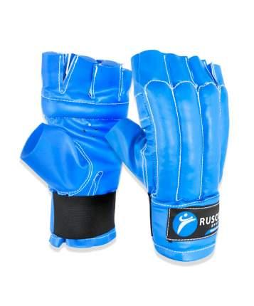Перчатки снарядные Rusco Sport, шингарды, кожзам, синий (M)