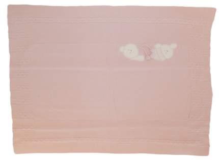Плед Папитто вязаный полушерстяной двухслойный Розовый 90х100
