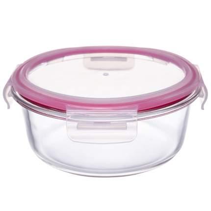 Контейнер стеклянный круглый 950мл роз ТМ Appetite