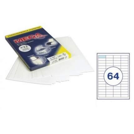 Этикетки Самоклеящиеся Mega Label 64,6Х33,8Мм/24 Шт,на Листе А4 (100 Листов)