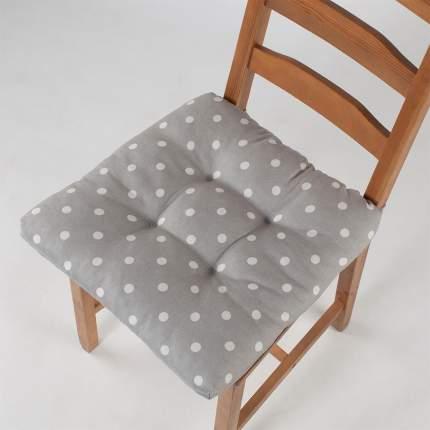 "Подушка на стул ""Guten Morgen"" Grey polka dot, горох, серый"