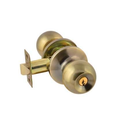 Ручка дверная ISPARUS (стар. бронза) ЗШ-01 (ключ/фикс.)