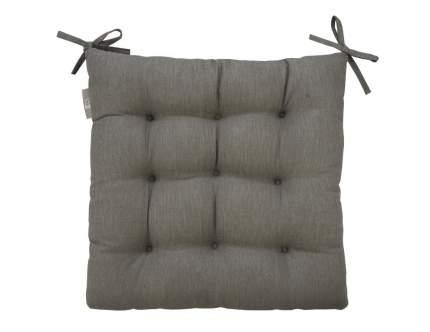 "Подушка на стул ""Guten Morgen"" Gray из рогожки; серый"
