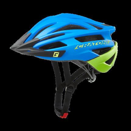 Велосипедный шлем Cratoni Agravic, blue/lime matt, L/XL