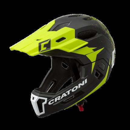Шлем C-MANIAC 2.0 MX Black-lime Cratoni