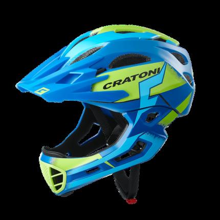 Велосипедный шлем Cratoni C-Maniac Pro, blue/lime matt, S/M