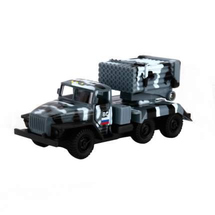 УРАЛ инерционный, металлический Технопарк град военный, с пушкой на прицепе
