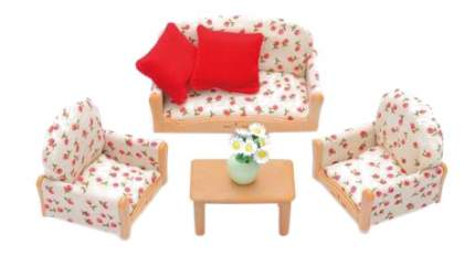 Игровой набор sylvanian families мягкая мебель для гостиной