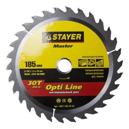 Диск по дереву для дисковых пил Stayer 3681-185-20-30