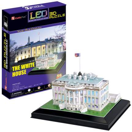 Пазл Cubic Fun 3D L504h Кубик фан Белый дом с иллюминацией (Вашингтон)