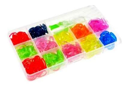 Набор для творчества цветные резиночки с блёстками, 600 штук, станок-рогатка, крючок