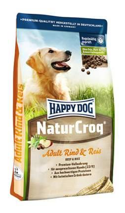 Сухой корм для собак Happy Dog NatureCroq Adult, говядина, рис, 1кг