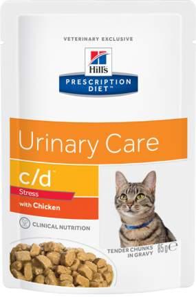 Влажный корм для кошек Hill's Prescription Diet c/d Urinary Stress, курица, 12шт, 85г